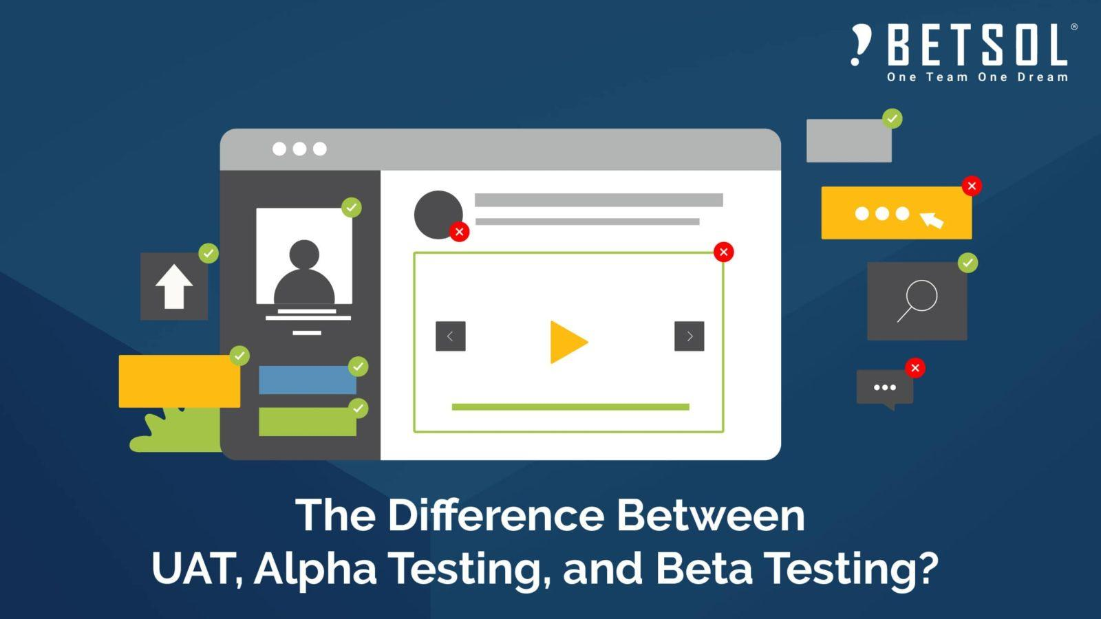 The Difference Between UAT, Alpha Testing And Beta Testing | Betsol